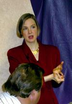 Sallie Goetsch speaking at Business Speakers by the Bay