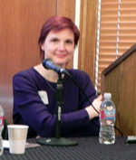 Sallie Goetsch at the Bay Area Editors' Forum panel on websites in April 2010